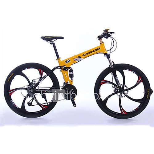 Mountain Bike / Folding Bike Cycling 27 Speed 26 Inch / 700CC SHIMANO Oil Disc Brake Suspension Fork Folding Ordinary / Standard Aluminium