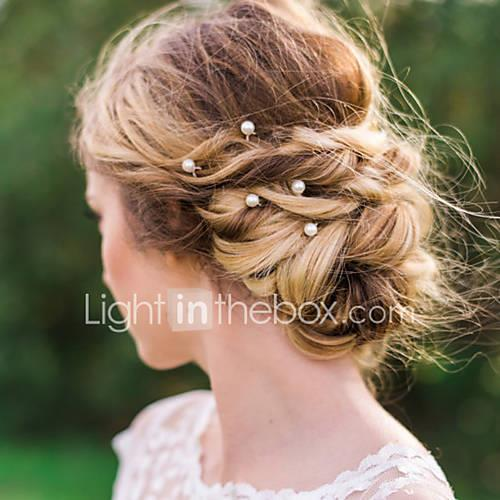 Imitation Pearl Alloy Hair Pin Hair Stick Hair Tool Headpiece