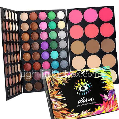 95 Color 2in1 Pro Eye Shadow EyeshadowBlush Contour Palette Dry MatteGlitter SmokyColorful Eyeshadow Powder Daily Party Makeup Cosmetic Palette Set