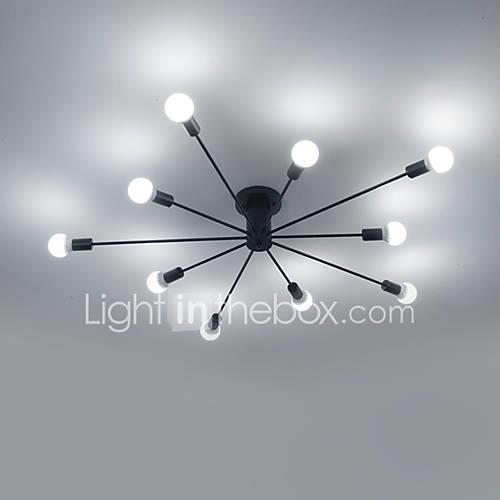 60w Flush Mount   Modern/Contemporary Painting Feature for Mini Style Metal Living Room / Bedroom /  Kitchen