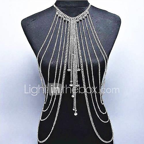 Crystal Body Chain - Women's Gold / Silver Bohemian / Natural / Fashion Body Jewelry For Special Occasion / Gift / Casual