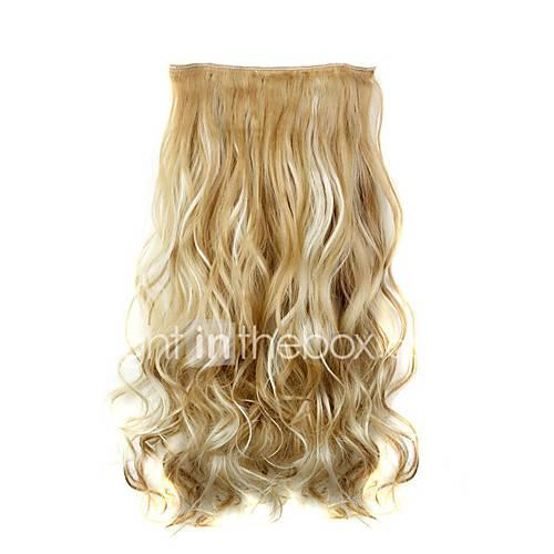 Curly Wavy Classic Synthetic Hair 22 inch Hair Extension Clip In Synthetic Women's Women Daily