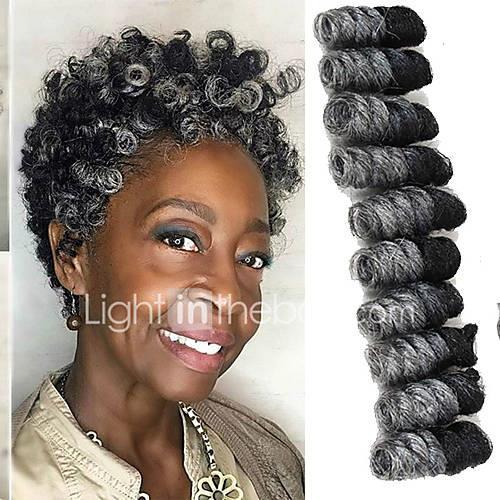 Braiding Hair Bouncy Curl / Saniya Curl Twist Braids / Pre-loop Crochet Braids Synthetic Hair / 100% kanekalon hair / Kanekalon 20 roots / pack Hair Braids Ombre 10 inch Short Event / Party