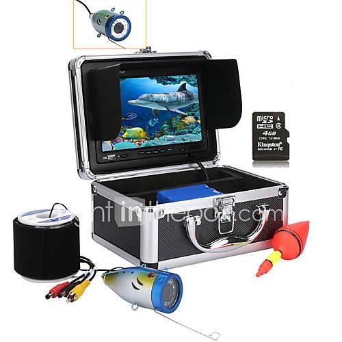 MOUNTAINONE 30M 7'' Color Digital LCD 1000TVL HD DVR Recorder Waterproof Underwater Fishing Camera