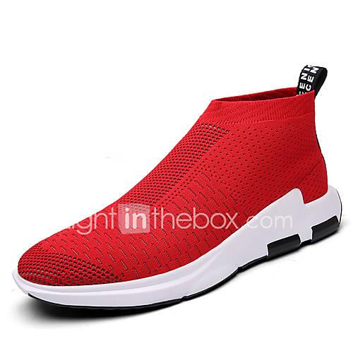 Men's Shoes Tulle Spring / Fall Comfort Sneakers Black / Gray / Red