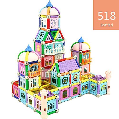 Magnetic Toy Magnetic Sticks Building Blocks Magnetic Blocks Magnetic Building Sets Toys Toys Magnetic Iron Children's Unisex 518 Pieces