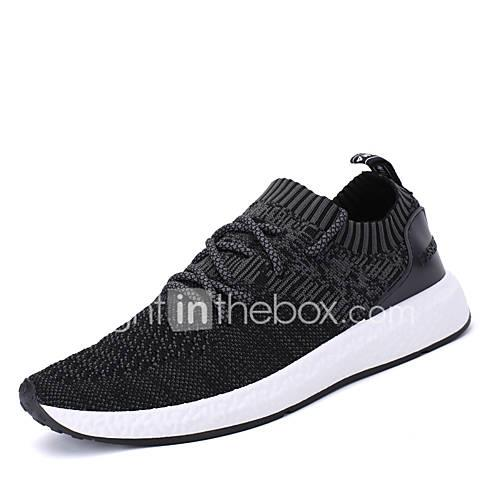 Men's Shoes PU(Polyurethane) Spring / Fall Comfort / Light Soles Athletic Shoes Running Shoes Black / Gray / Dark Grey