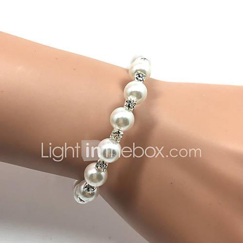 Women's Imitation Pearl Pearl Cuff Bracelet Tennis Bracelet - Fashion Circle White Bracelet For Christmas Gifts Wedding Party Special