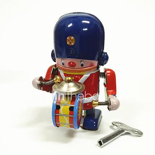 Robot / Wind-up Toy Machine / Robot / Drum Set Metalic / Iron Vintage 1 pcs Pieces Kid's / Adults' Gift