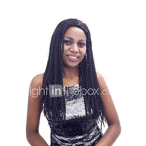 Synthetic Lace Front Wig Kinky Curly Synthetic Hair Ombre Hair / Natural Hairline / Side Part Red / Black / Brown Wig Women's Long Capless / African American Wig