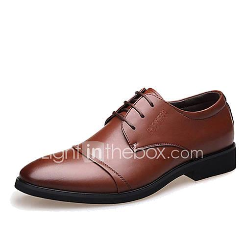 Men's Formal Shoes Microfiber Spring / Fall Business Oxfords Walking Shoes Black / Brown / Wedding / Party  Evening