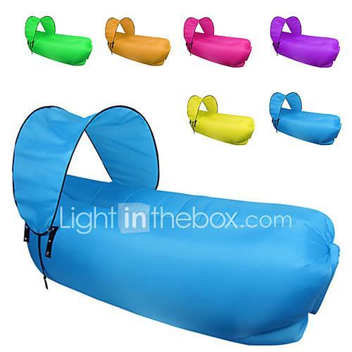 Fonoun Inflatable Sofa Sleep lounger / Air Sofa / Air Bed Outdoor Camping Portable, Fast Inflatable, Waterproof Polyester Taffeta Beach,
