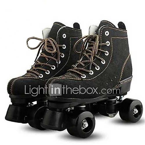 Adults' Flashing Roller Skates Roller Skates Lighting Well-ventilated Black
