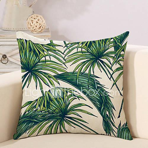1 pcs Cotton/Linen Pillow Case Pillow Cover, Botanical Printing Novelty Vintage Casual Tropical European Neoclassical Traditional/Classic