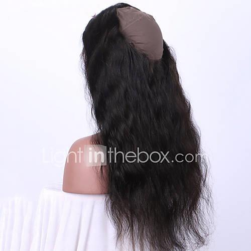 360 Frontal Wavy / Classic Free Part / Middle Part Swiss Lace Remy Human Hair Daily