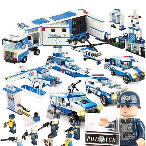 SHIBIAO Building Blocks Toys Warship Aircraft Police Military DIY Unisex 1040 Pieces