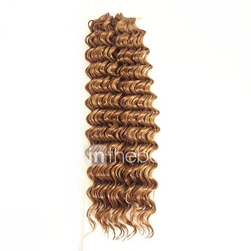 1pack 27# 14inch crochet Deep Wave Twist No Shedding Hair kanekalon Crochet Braids deep wave Hair Extensions deep Twist BraHair Extensions Hair Braids
