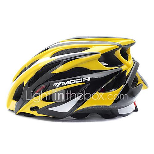 MOON Adults Bike Helmet 25 Vents Impact Resistant Ventilation Insect Net EPS PC Sports Mountain Bike / MTB Road Cycling Cycling / Bike - Yellow / Black Men's Women's / Integrally-molded