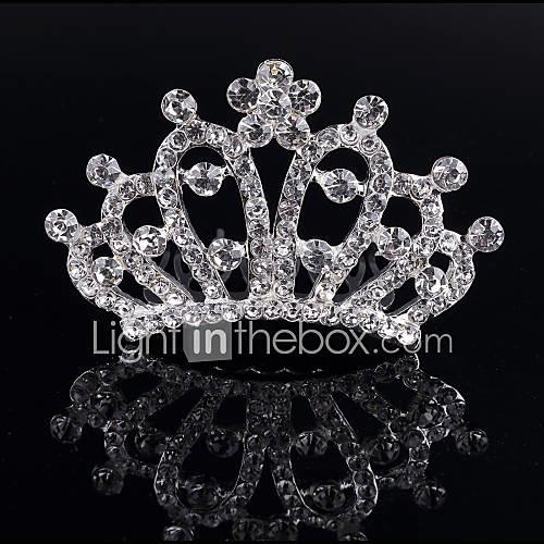 Crystal / Rhinestone / Alloy Tiaras / Hair Combs with 1 Wedding / Special Occasion / Birthday Headpiece