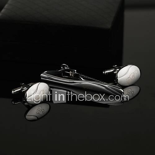 Zinc Alloy Cufflinks  Tie Clips Groom Groomsman Wedding Anniversary Birthday Business
