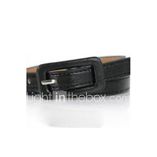 Women's Leather Skinny Belt - Solid Colored / Cute