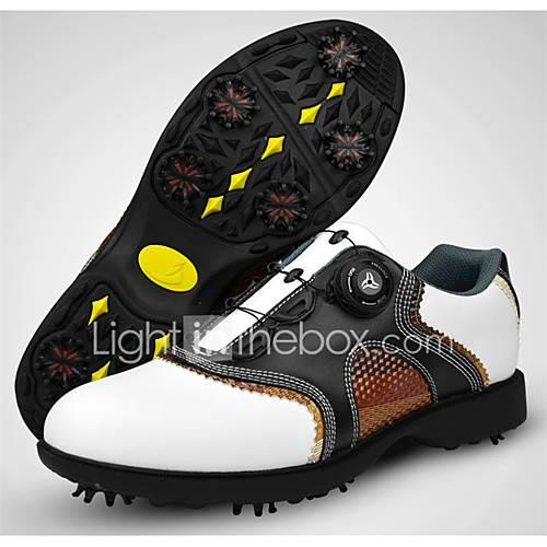 Golf Shoes Men's Golf Wearable Breathable Training Casual Sports Outdoor Performance Practise Sporty Cowhide Nappa Leather Rubber