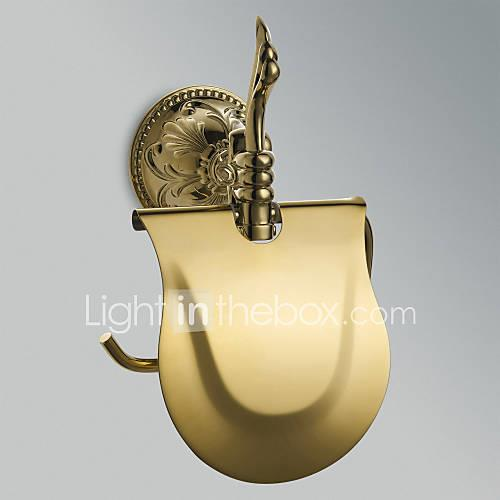 Toilet Paper Holder High Quality Antique Brass 1 pc - Hotel bath