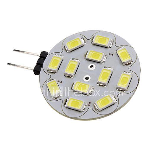 Image of 1.5 W 150-200 lm G4 LED Spotlight 12 LED Beads SMD 5730 Natural White 12 V / #