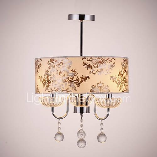 QINGMING Drum Chandelier Downlight - Crystal, 110-120V / 220-240V Bulb Not Included / 10-15㎡ / E12 / E14