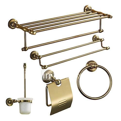 Bathroom Accessory Set / Aluminum Aluminum /Antique