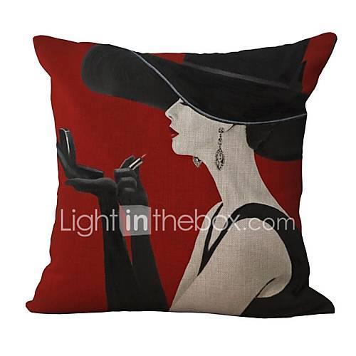 1 pcs Cotton/Linen Pillow Case, Pattern Traditional/Classic