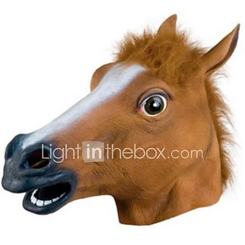 Halloween Mask Animal Mask Horse Horror Glue Rubber Unisex Adults' Gift 1pcs