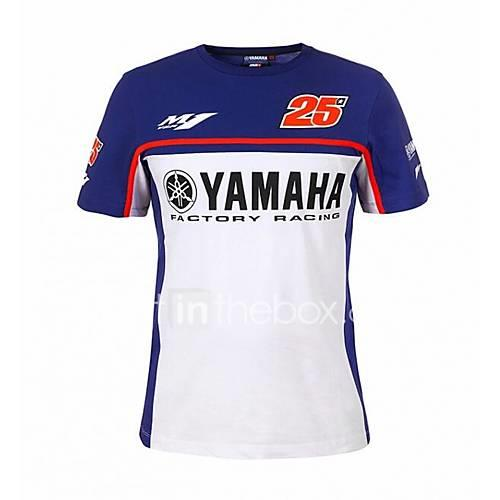 Motorcycle T-Shirt Quick-Drying Ride Short-Sleeved Cotton Casual T-Shirt No. 25 Driver Villa Fan Shirt