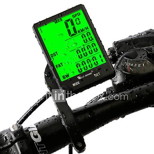 WEST BIKING Bike Computer / Bicycle Computer Cycling Speedometer Stopwatch 20 Functions 2.8'' Large Screen Waterproof Wireless Smart