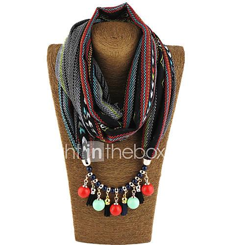 Women's Alloy Nylon Resin with Metal Clip Chiffon Infinity Scarf Print All Seasons