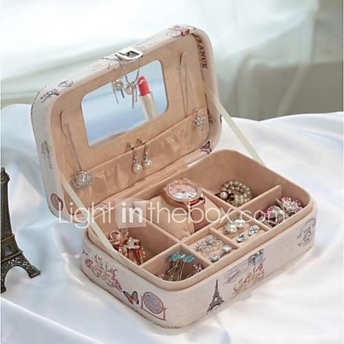 Jewelry Box with Lock, Jewelry Box Storage Items Eiffel Tower
