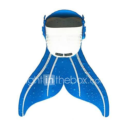 Diving Fins / Swim Fins Mermaid, Easy Carrying, Adjustable Strap Swimming, Diving, Snorkeling PE - for Kids Blue / Pink / Blue / White