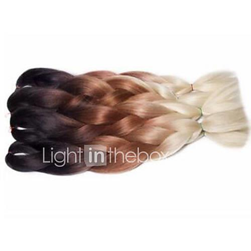 Braiding Hair Crochet Jumbo 100% kanekalon hair 3 Pieces Hair Braids Long Ombre Braiding Hair