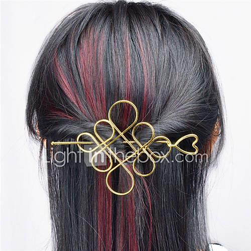Europe and the United States foreign trade euro contracted joker hair accessories Hollow metal Chinese knot hair half arm type A0331-0332