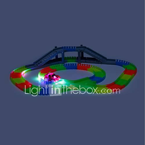 Toy Race Car  Track Sets Race Car Underground - Longwall Toys Glow in the Dark LED Electric DIY Noctilucent Fluorescent Kid's Boys'