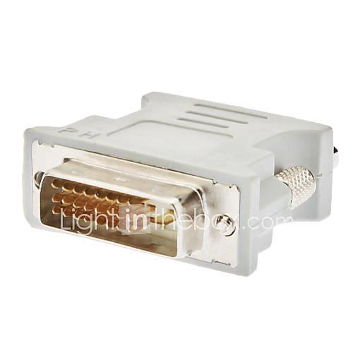 DVI 241 Male to VGA Female Adapter White