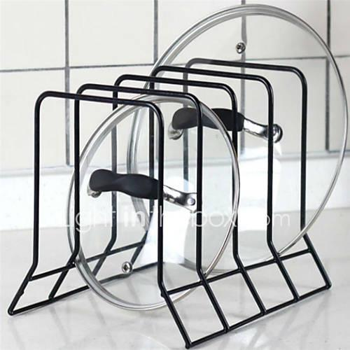1pc Pot Lid Holders Metal Easy to Use Kitchen Organization