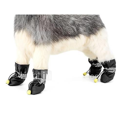 Dog Anti-Slip Sole Boots Snow Boots Dog Clothes Solid Colored Black Gray Red Blue Pink Fabric Costume For Pets Casual/Daily Keep Warm New