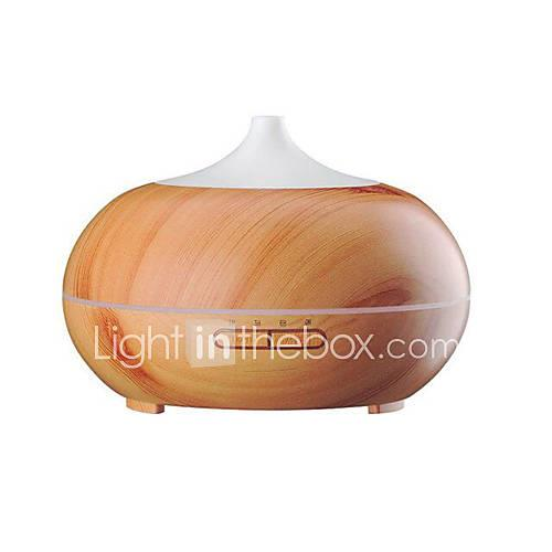 Aromatherapy Essential Oil Diffuser  Wood Grain Ultrasonic Cool Mist Whisper-Quiet Humidifier with Color LED Lights Changing  4 Timer Settings Wate