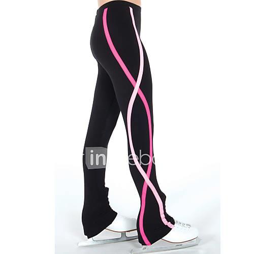 Figure Skating Pants Women's / Girls' Ice Skating Leggings / Pants / Trousers Red / Blue Spandex Stretchy Practise Skating Wear Spiral
