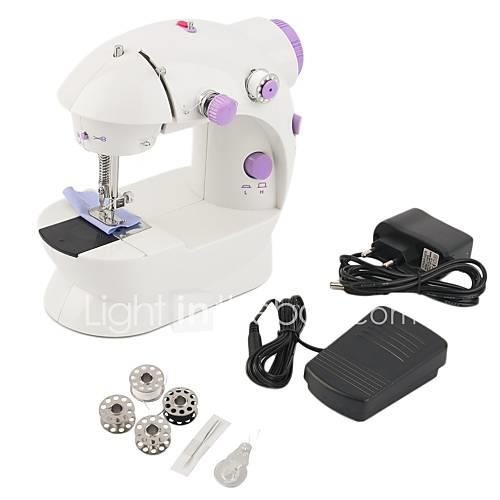Mini Electric Handheld Sewing Machine Dual Speed Adjustment with Light Foot Double Threads Sewing Machine