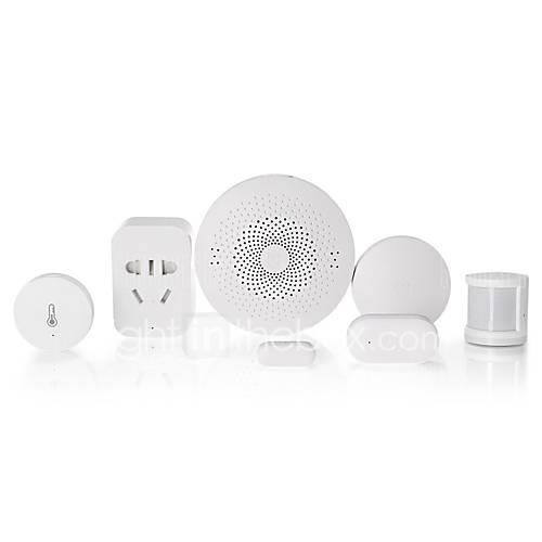 Xiaomi Mijia 6 in 1 Smart Home Security Kit -Wireless Switch/Window Door Sensor/Human Body Sensor/Temperature Humidity Sensor/Multi-Gateway/Outlet
