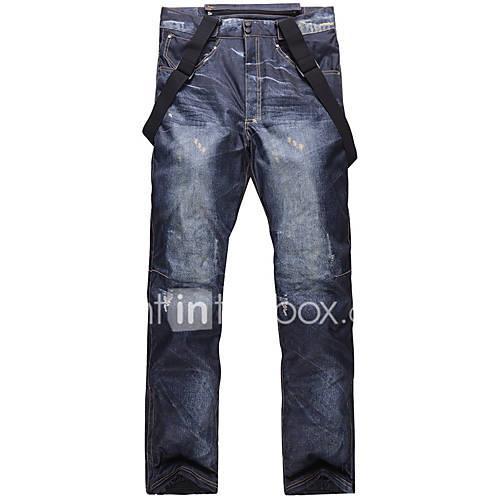 Men's Ski / Snow Pants Warm Waterproof Windproof Ski / Snowboard Hiking Cotton Eco-friendly Polyester