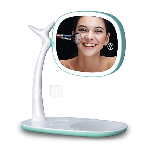 Led mirror light double mirror magnification 360 degree rotation adjustable light USB charging