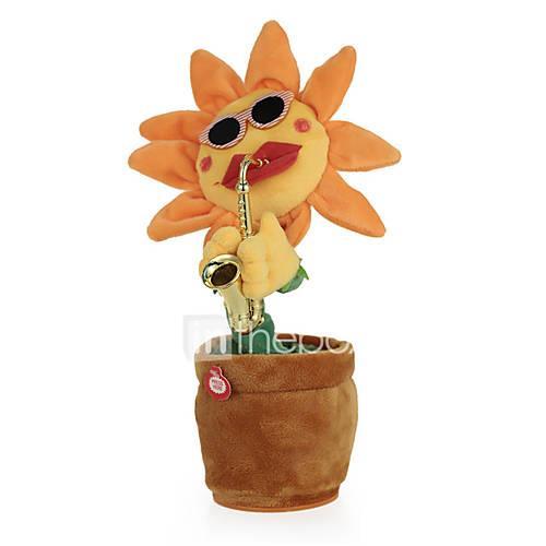 Dancing Flower Gags  Practical Joke Singing / Dancing / Stress and Anxiety Relief Cartoon Sponge / ABS Gift 1pcs
